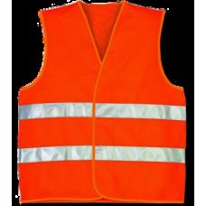 Жилет сигнальный  со светоотражающей  лентой , цвет оранжевый , состав polyester 100%  , размер 4XL плотность ткани 120г/м2
