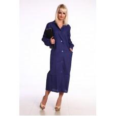 Халат робочий жіночий ГОСТ ткань Бязь синя