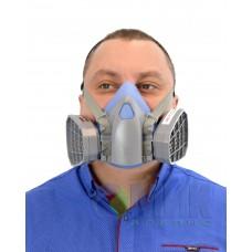 3М Полумаска силиконовая +фильтра угольные байонетное крепление   SAFETY  PROTECTION