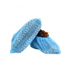 Бахіли  неткані поліетиленові з протиковзаючою полосою сині 4,5гр./шт N408