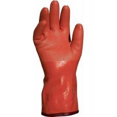 Защитные перчатки Delta Plus Petro VE760 ПВХ на хлопчатобумажной трикотажной основе Оранжевые