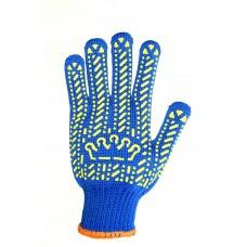 "Перчатки рабочие ""Корона"", артикул 5614  / Цвет: синий."