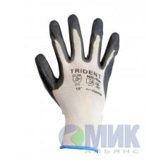 Перчатки Trident DQ608B облиты нитрилом для точных работ