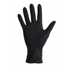 Перчатка нитрил черный  BLACK S