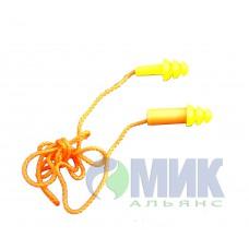 Беруши из пластика с веревкой EP-511-ORANGE